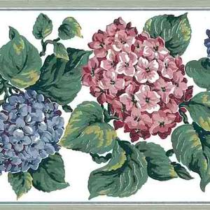 Hydrangea Vintage Wallpaper Border Cottage Blue Hydrangea CA16800 FREE Ship