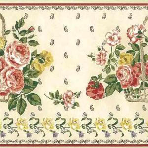 Paisley Peonies Vintage Wallpaper Border Floral RW8224B FREE Ship