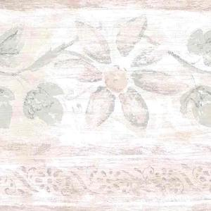 Pink Green Vintage Wallpaper Border Kitchen Floral Fruit BY2332B FREE Ship