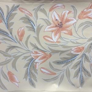 Schumacher Vintage Wallpaper Border Floral Beige Peach FREE Ship
