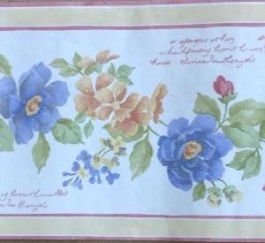 Script Floral Vintage Wallpaper Border Peach B.0633 FREE Ship