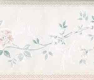 Satin Floral Vintage Wallpaper Border Pink UK 85166 FREE Ship