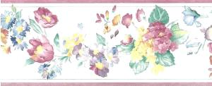 Summer floral vintage style, cottage, pink, purple, green, blue, yellow, off-white, flowers, hydrangea, asters