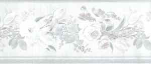 pink vintage floral wallpaper border, blue, green, cream, textured, glazed, ribbed, English cottage