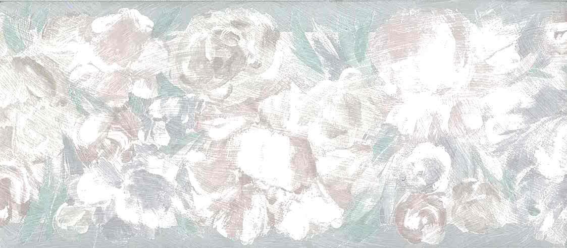 pink pearlized floral vintage wallpaper, border, cottage, UK, blue, green, guest bedroom