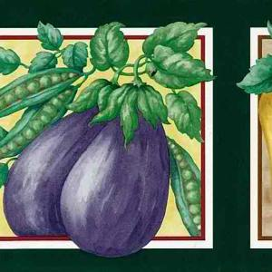 Veggies Kitchen Vintage Wallpaper Border 90-25262 FREE Ship