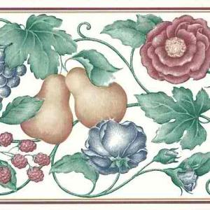 Raspberries Vintage Wallpaper Border Kitchen Fruit 768B1519 Free Ship
