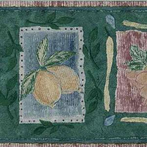Kitchen Vintage Green Border Fruit 52839816 FREE Ship
