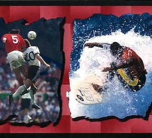 Children's Vintage Wallpaper Border Sports Surfing Football 7500-762 FREE Ship