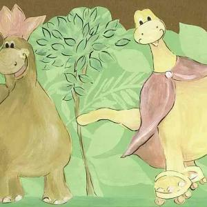 Dinosaurs Childrens Wallpaper Border Green UY30081B FREE Ship