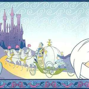 Disney Princess Wallpaper Border Girls Blue 41262390 FREE Ship