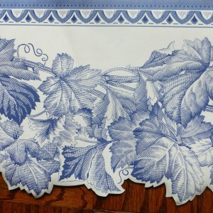 Blue Leaf Vintage Border White Cutout 572802 FREE Ship