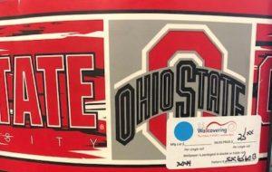 Ohio State wallpaper border, scarlet, gray, Buckeyes border, sports,