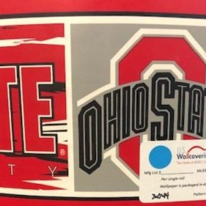 Ohio State Wallpaper Border Scarlet Gray SK6560B FREE Shipi