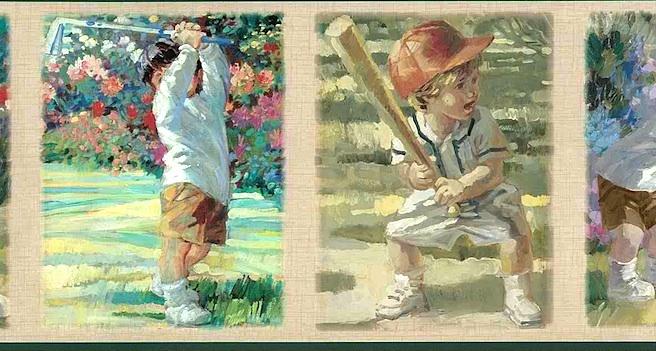 Boys sports wallpaper border