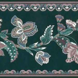Green Paisley Vintage Wallpaper Border Floral SWB11304 FREE Ship