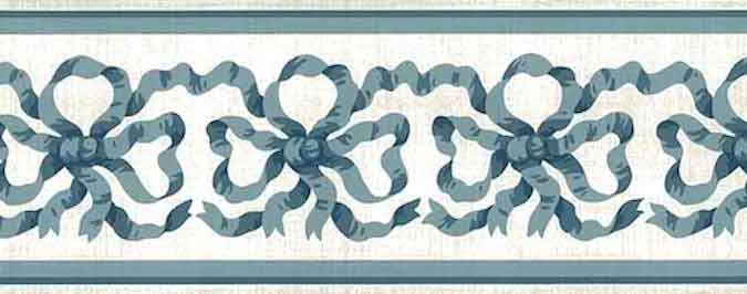Blue Ribbon Vintage Wallpaper Border by Waverly
