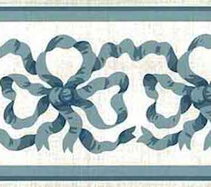 Blue Ribbon Vintage Wallpaper Border Waverly 563668 FREE Ship