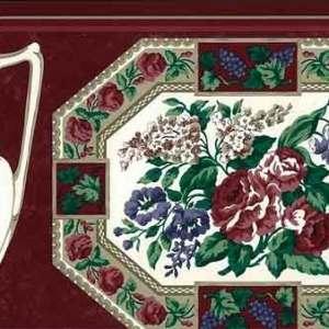 Plate Pitcher Vintage Wallpaper Border Kitchen Waverly 570392 FREE Ship