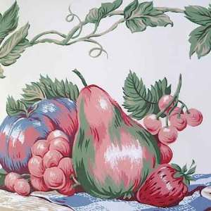 Watermelon Picnic Wallpaper Border Fruit Kitchen Red KB760B FREE Ship