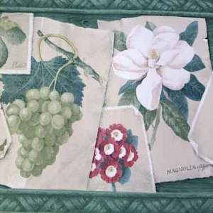 Green Botanical Vintage Wallpaper Border Kitchen Floral EN1338B FREE Ship