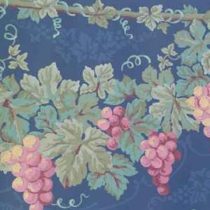 Vintage Navy Brocade Wallpaper Border Kitchen 598180 Free Ship