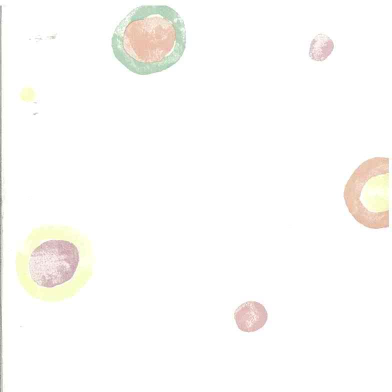 kids circle wallpaper, pink, green, blue, white, nursery