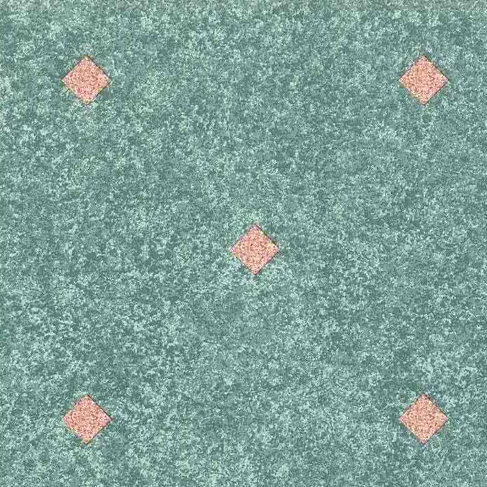 Diamond Shape Vintage Wallpaper, pink green, white, geometric