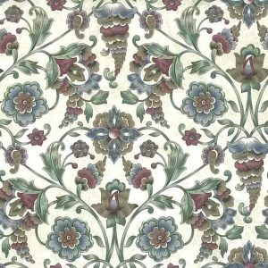 Paisley Vintage Wallpaper Floral Red Blue Green HP2283 D/Rs