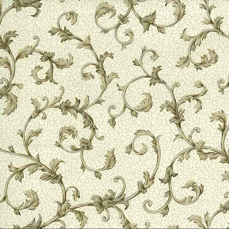 Silver taupe scroll wallpaper, brown, silver, cream, faux finish