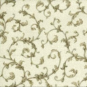 Taupe Silver Scroll Wallpaper Brown 87-61955 Double Rolls