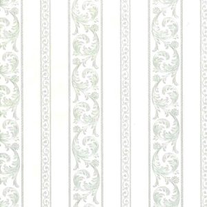 White Pearlized Vintage Wallpaper Stripe Texture UK 42825 Double Rolls