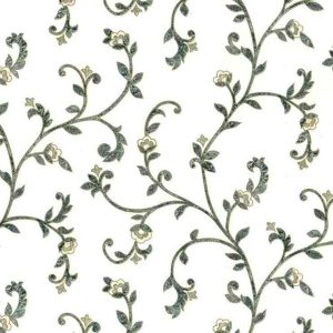 Green Scroll Vintage Wallpaper Scroll UK 24738 Double Rolls