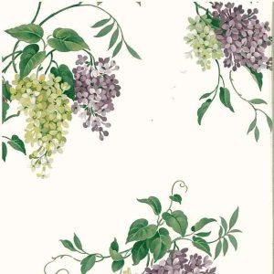Vintage Wallpaper Hydrangea Floral Purple Cottage BR59708 D/Rs