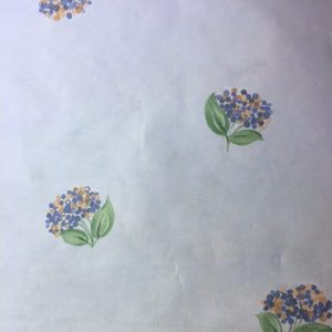 Blue Hydrangeas Vintage Wallpaper Floral Shand Kydd 86201 D/Rs