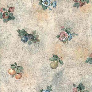 Pink Faux Fruit Vintage Wallpaper Pears Floral Kitchen 19821C6 D/Rs