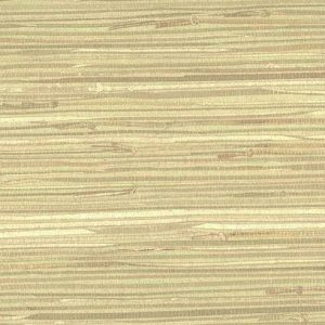 Green Beige Natural Grasscloth Wallpaper NZ0780 Double Rolls