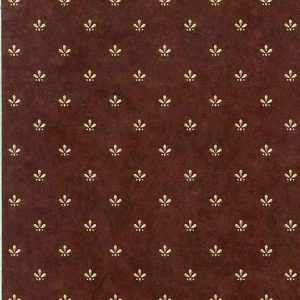 Maroon Beige Vintage Wallpaper Arts Crafts Faux Finish DGH3164 D/Rs