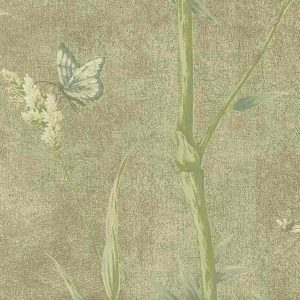 Bamboo Wallpaper Olive Green Ronald Redding IG2135 D/Rs