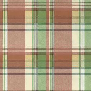 Waverly Plaid Vintage Wallpaper Red Orange Green 5636393 D/Rs