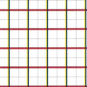 Plaid Vintage Wallpaper Kitchen Red White Blue Yellow TJ1091 D/Rs