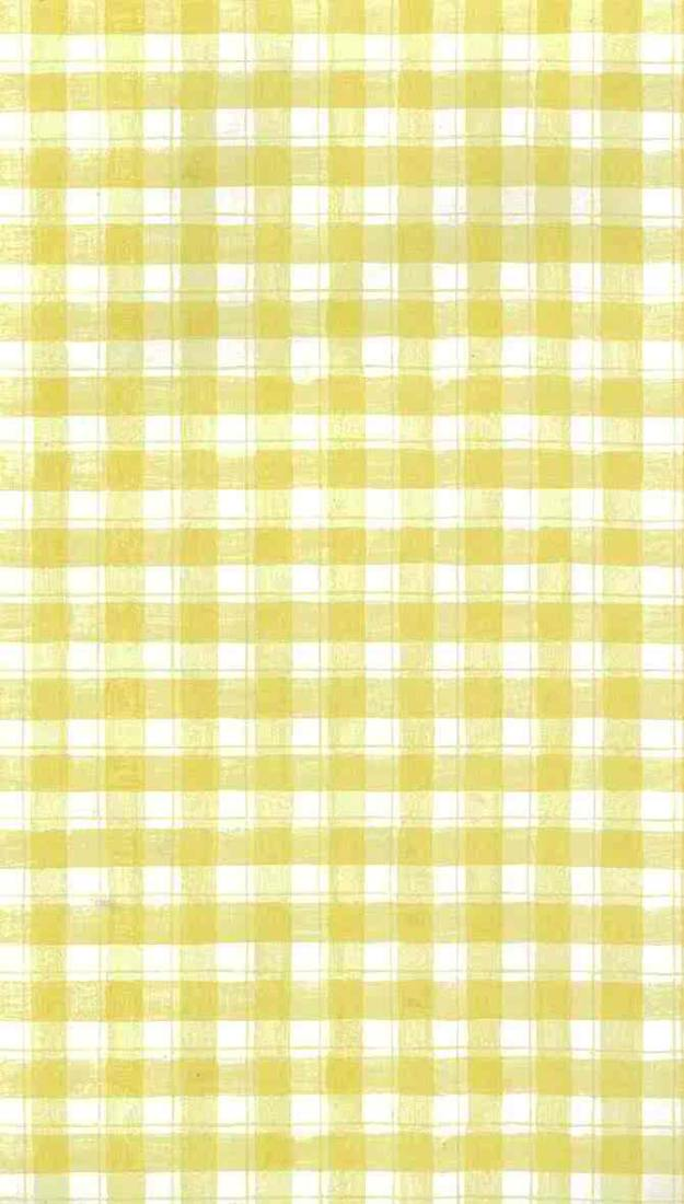 Yellow and white plaid wallpaper