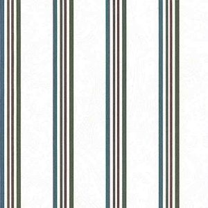 Red Green Striped Vintage Wallpaper WFM4173 Double Rolls