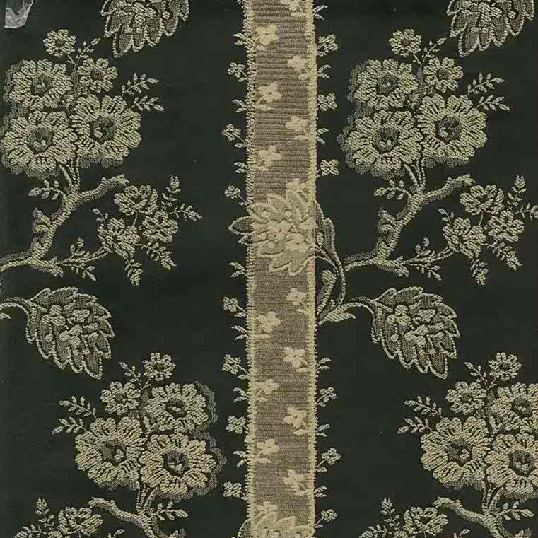 wallpaper oriental black gold, brocade, floral, stripes, chrysanthemum