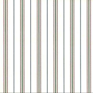 Vintage Wallpaper Green Red Stripe 318-4736 Double Rolls