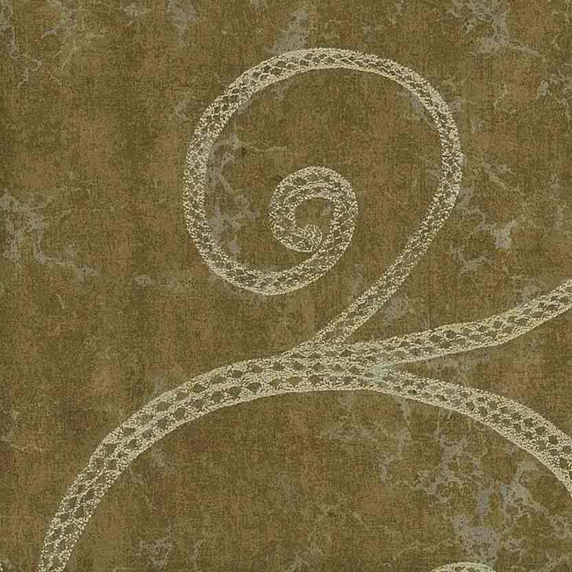 Bronze silver textured wallpaper, silver, brown, scroll