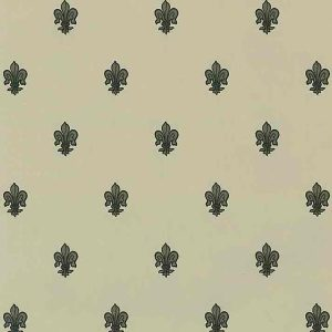 Fleur-de-lys Vintage Wallpaper Gray Taupe Black DP91084 D/Rs