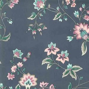 Waverly Vintage Floral Wallpaper Gray Rose Green 555721 D/Rs