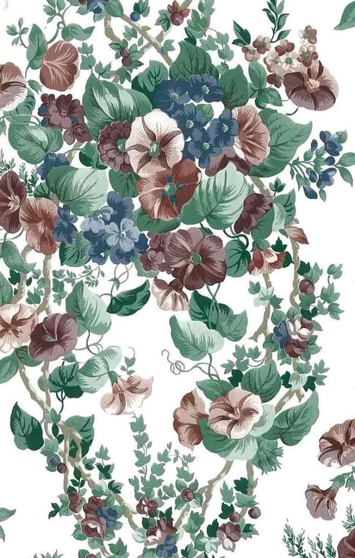 Morning glories and anemones wallpaper.