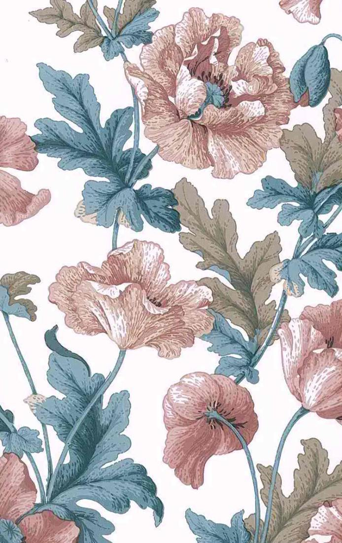 large-scale floral wallpaper